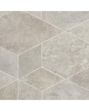 PVC LOFTEX 2174 Origin Light Grey - šedá dlažba
